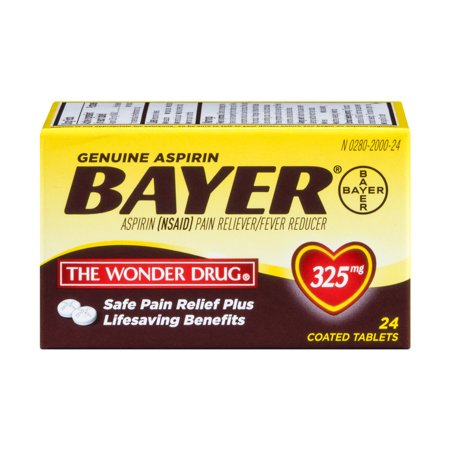 Bayer Genuine Aspirin Coated Tablets   24 Ct