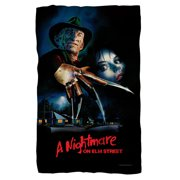 Nightmare On Elm Street Freddy Poster Poly 36X60 Blanket White One Size