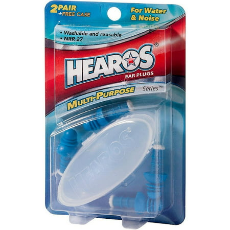 Hearos Multi-Purpose Series Ear Plugs 2 Pair + Free Case 1 ea