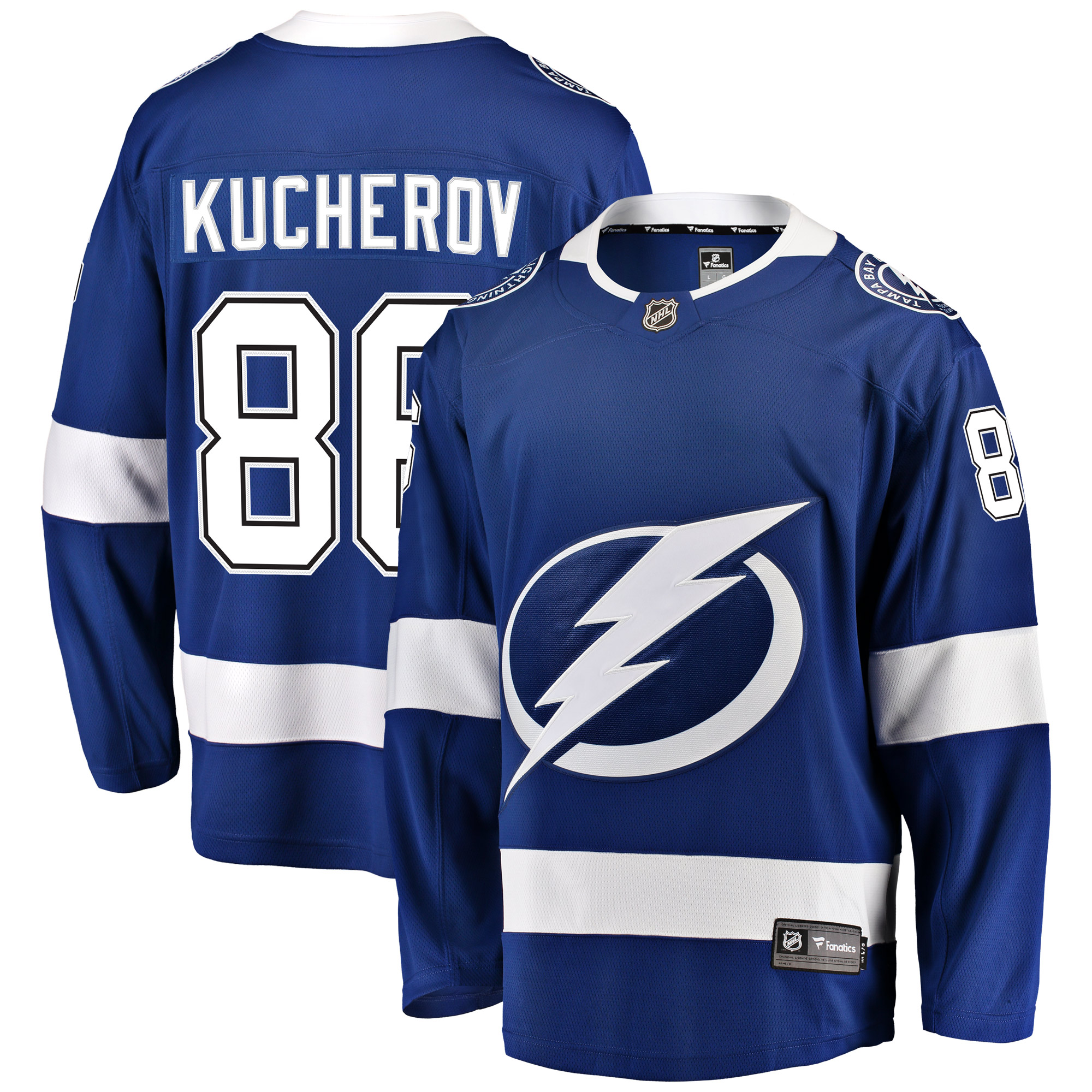 Nikita Kucherov Tampa Bay Lightning Fanatics Branded Home Breakaway Player Jersey - Blue
