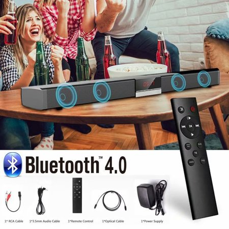 Coaxial Speakers System - Stereo Surround Sound Bluetooth 4.0 Soundbar for TV Wireless Speaker Aux-In Coaxial Optical Subwoofer Home Theater
