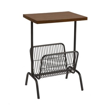 Better Homes & Gardens Carl Accent Table with Wire Magazine Rack