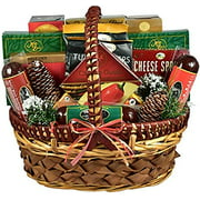 Savory Snacks Exquisite Sausage and Cheese Gift Basket   Meat and Cheese Christmas Gift Basket
