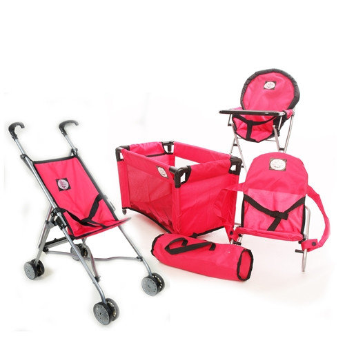 The New York Doll Collection 4-1 Doll Playset with Stroller
