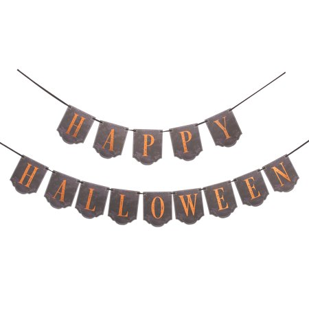 Darice Martha Stewart Crafts Happy Halloween Garland Chipboard and Vellum  110 inches (Crochet Halloween Garland)