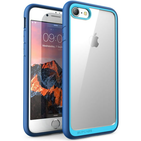 iPhone / 7 Ca,Phone 8 Ca, SUPCA Unicorn Beetle Style Premium Hybrid Protective Clear Bumper Ca, Navy
