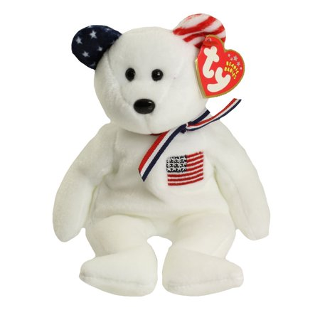 TY Beanie Baby - AMERICA the Bear (White Version - Internet Exclusive) (8.5 (Baby White Bear)