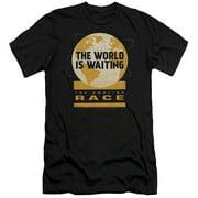 The Amazing Race Waiting World Mens Slim Fit Shirt