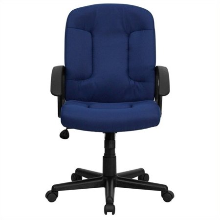 Scranton & Co Mid-Back Office Chair with Nylon Arms in Navy