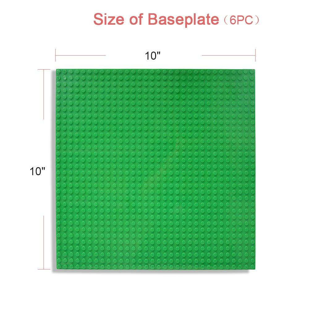 Pack of 12 Lekebaby Classic Baseplates Building Base Plates for Building Bricks 100/% Compatible with Major Brands-Baseplates 10 x 10