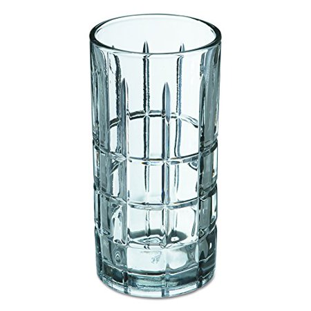 Anchor Hawking ANH68347 Tartan Glasses, Iced Tea Glass, 16 Oz, Clear, 12/carton
