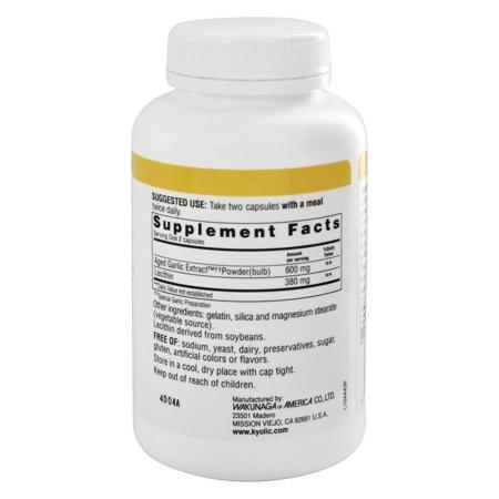 Kyolic Aged Garlic Extract Cholesterol Formula 104 - 200 Capsules