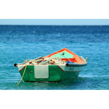 Canvas Print Ocean Fishing Tropic Boat Stretched Canvas 10 x 14