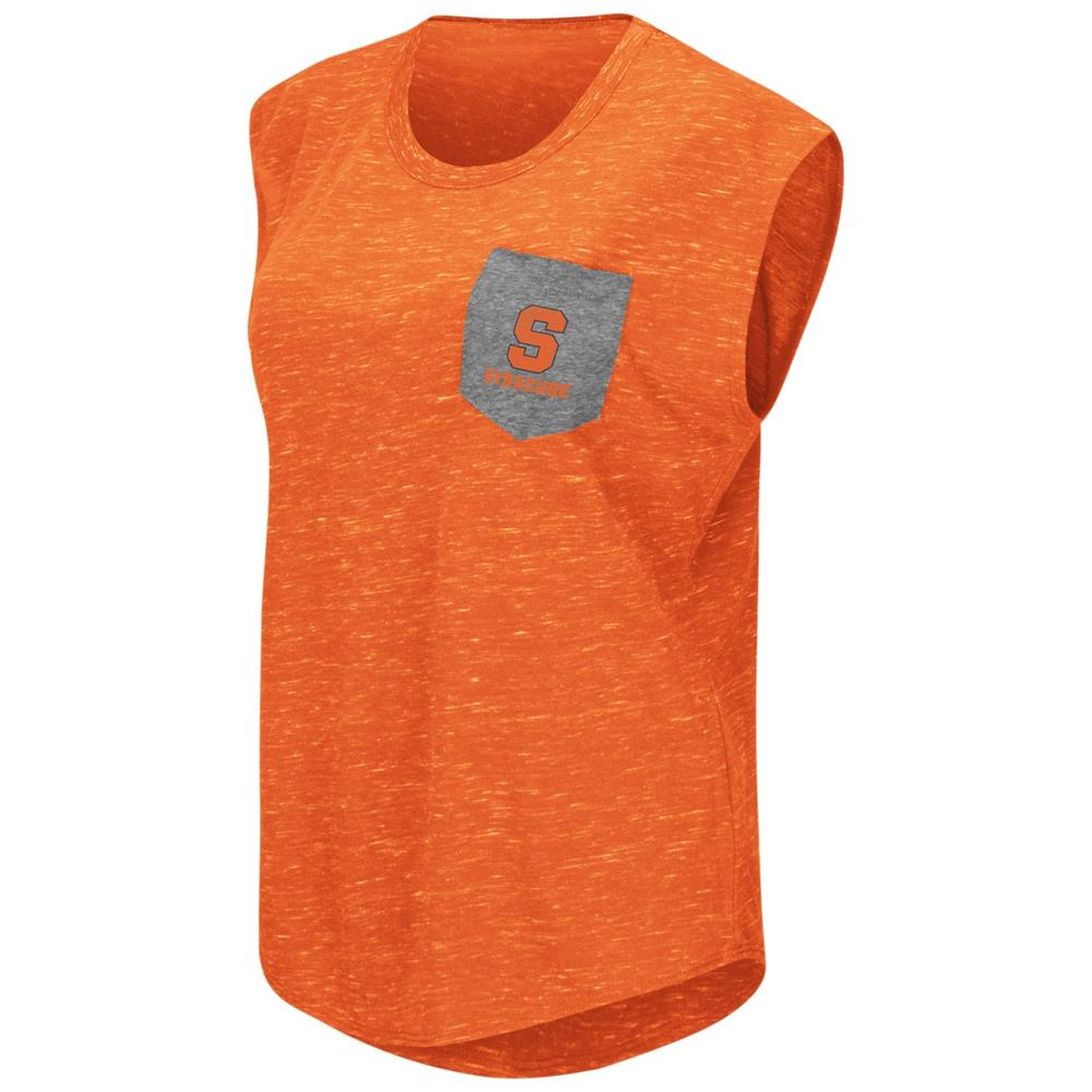 Syracuse University Ladies Pocket Tee Heathered Vintage T-Shirt