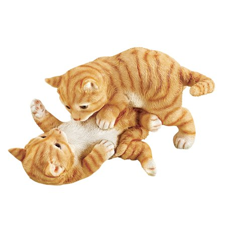 Car Statue (Collections Etc. Kittens at Play Indoor or Outdoor Garden Statue Décor, Cat Lovers Gift, Black and White )