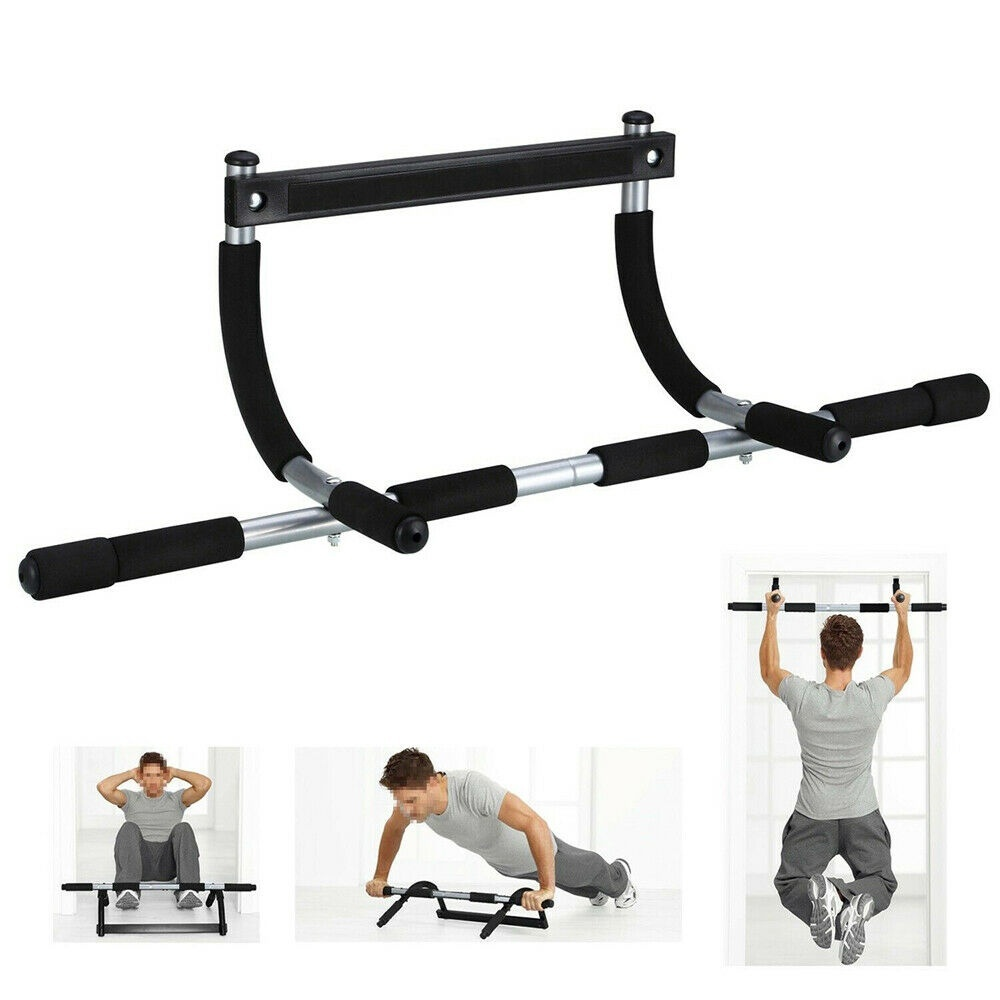 Horizontal Door Frame Bar Pull Up Chin Up Push Up Sit Up Dips Home Gym Training