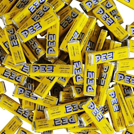 Pez Candy Single Flavor 2 Lb Bulk Bag (Lemon) Yellow Candy … - Yellow Lollipops
