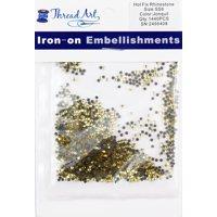 Threadart Hot Fix Rhinestones SS10 (3mm) - Lt. Siam - 10 Gross (1440 stones/pkg) Hotfix - 5 Sizes and 33 Colors Available - 2 Pack Bundles