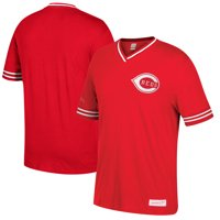 Cincinnati Reds Mitchell & Ness Overtime Win Vintage V-Neck T-Shirt - Red/White