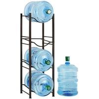 Oumilen 4 Tier Dark Brown Water Cooler Jug Rack