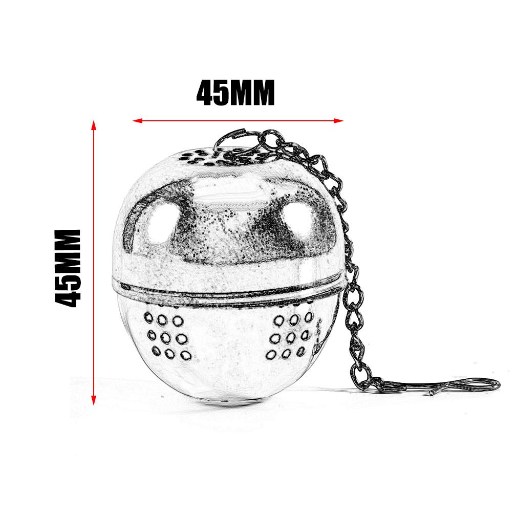 4 4.5 5CM Practical Tea Infuser Bag Stainless Steel Pot Infuser Sphere Mesh Strainer Handle Tea Ball Filter... by