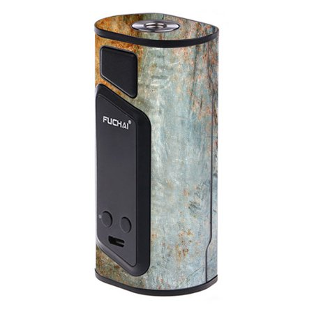 Rust Steel Door - Skin Decal For Sigelei Fuchai Duo-3 175W Tc Vape / Rusted Steel Metal Plate Grey