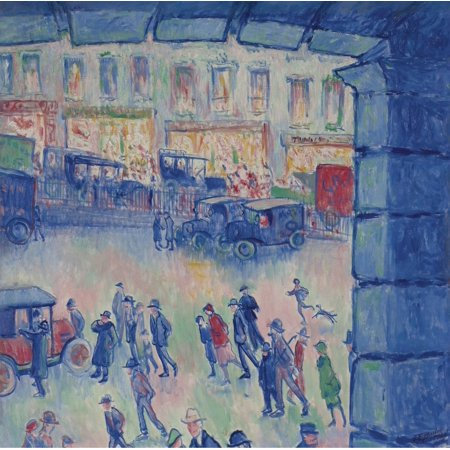 """""""Framed Art For Your Wall Theodore Earl Butler - The Roman Court And The Station Of Saint Lazare"""