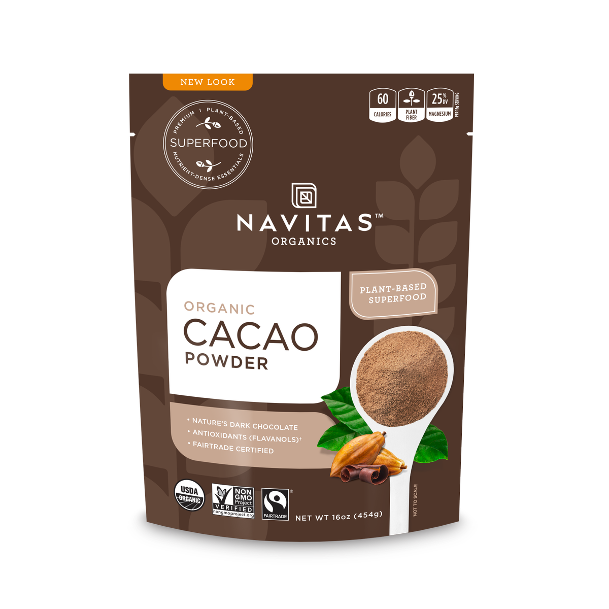 Navitas Organics Cacao Powder, 1.0 Lb, 30 Servings