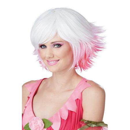 Fantasia Costume Wig (White/Pink/Fuchsia)