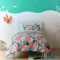 Pillowfort Reversible Tropical Flower Twin Comforter Set 2 Piece Colorful Floral
