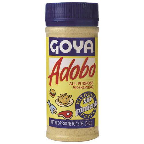 goya adobo all purpose seasoning without pepper 12 oz