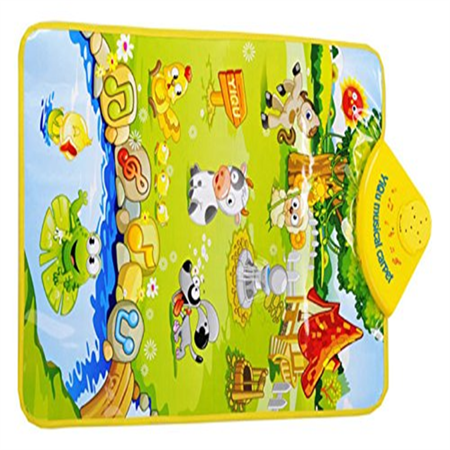 Hot Sale! Kids Baby Farm Animal Music Touch Toys Play Singing Gym Musical Carpet Mat Toys Gift