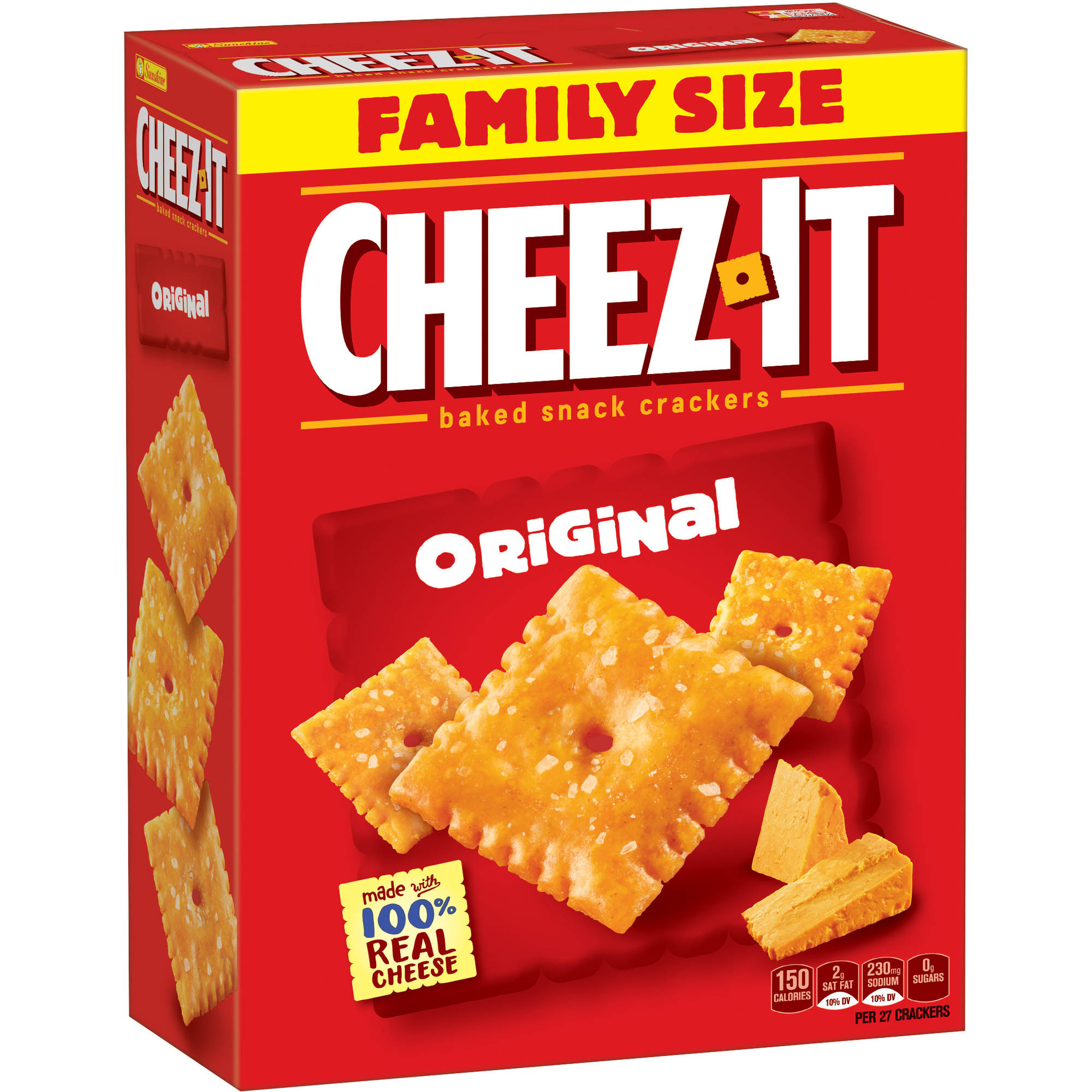 Cheez-It Original Baked Snack Crackers, box of 21 oz