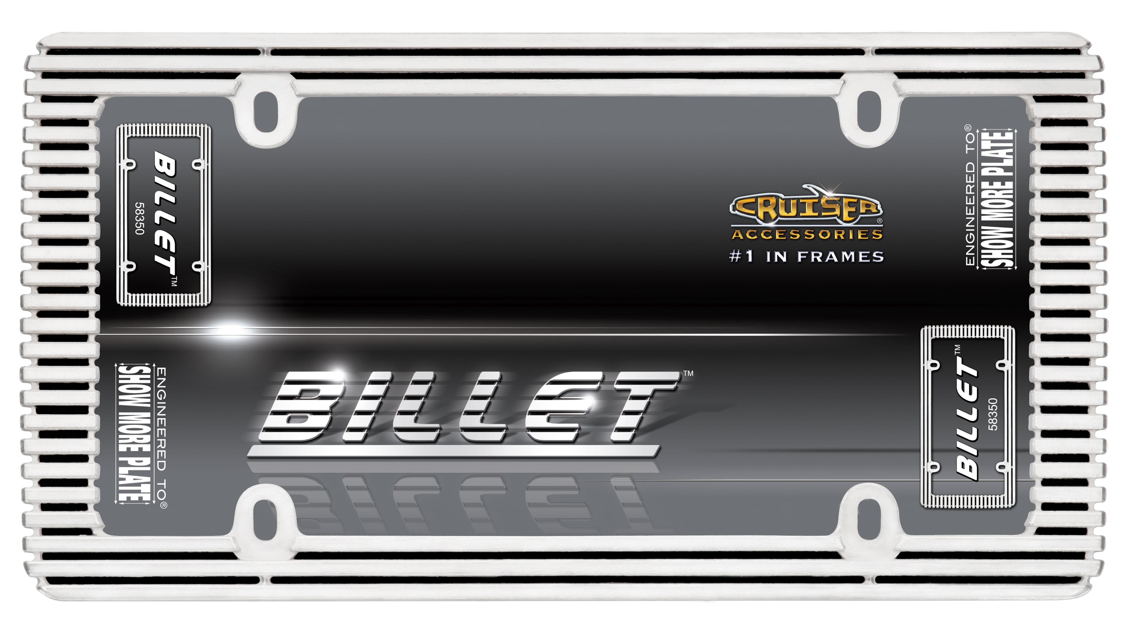 Billet License Plate Frame, Chrome/Black - Walmart.com