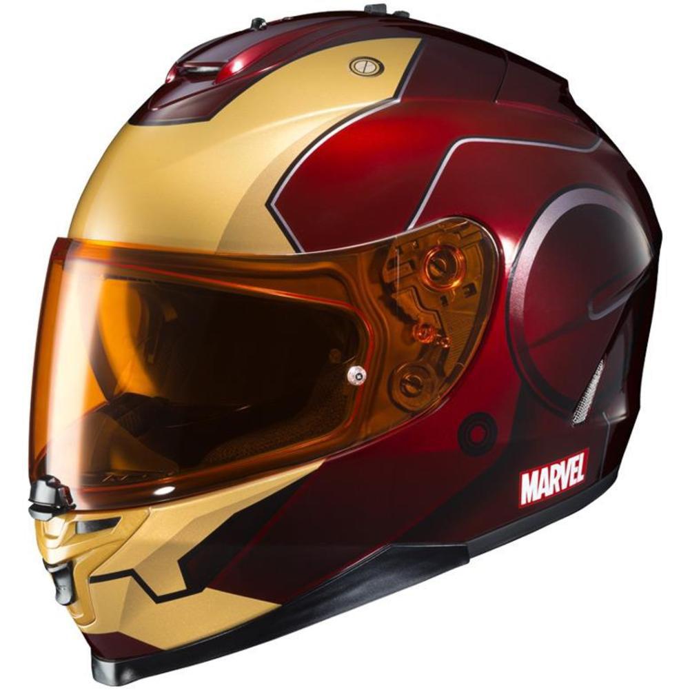 HJC IS-17 Marvel Iron Man Helmet Red (MC-1) (Red, X-Small)