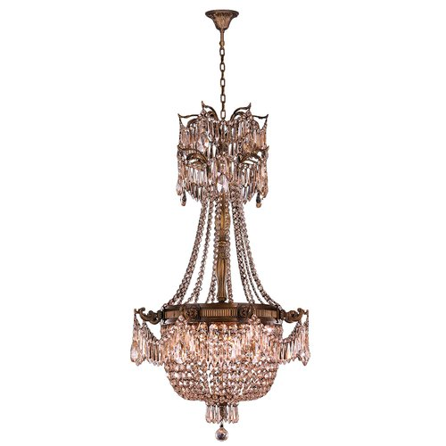 Worldwide Lighting Winchester 4-Light Crystal Chandelier
