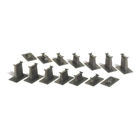 Bachmann Trains 14-Piece E-Z Track HO Scale Graduated Pier Set | (Scale Trains Bachmann Ez Track)