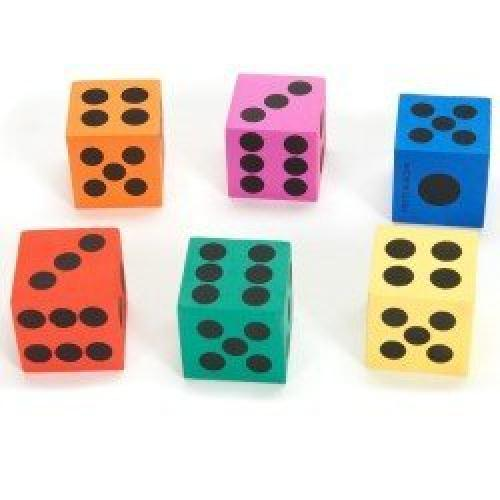 12 Dice - Big Foam Playing Dice (12 Pack)