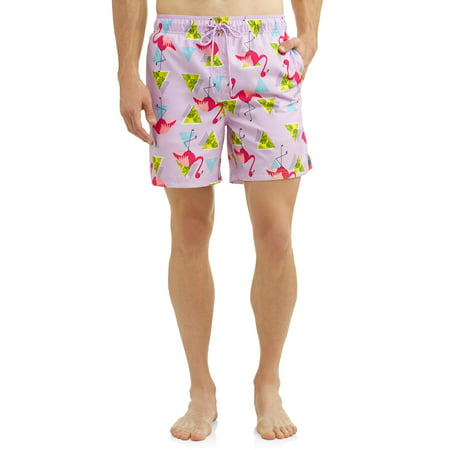 George Men's Novelty Eboard Swim Short, Up to Size 5XL Cotton Vintage Swim Trunks