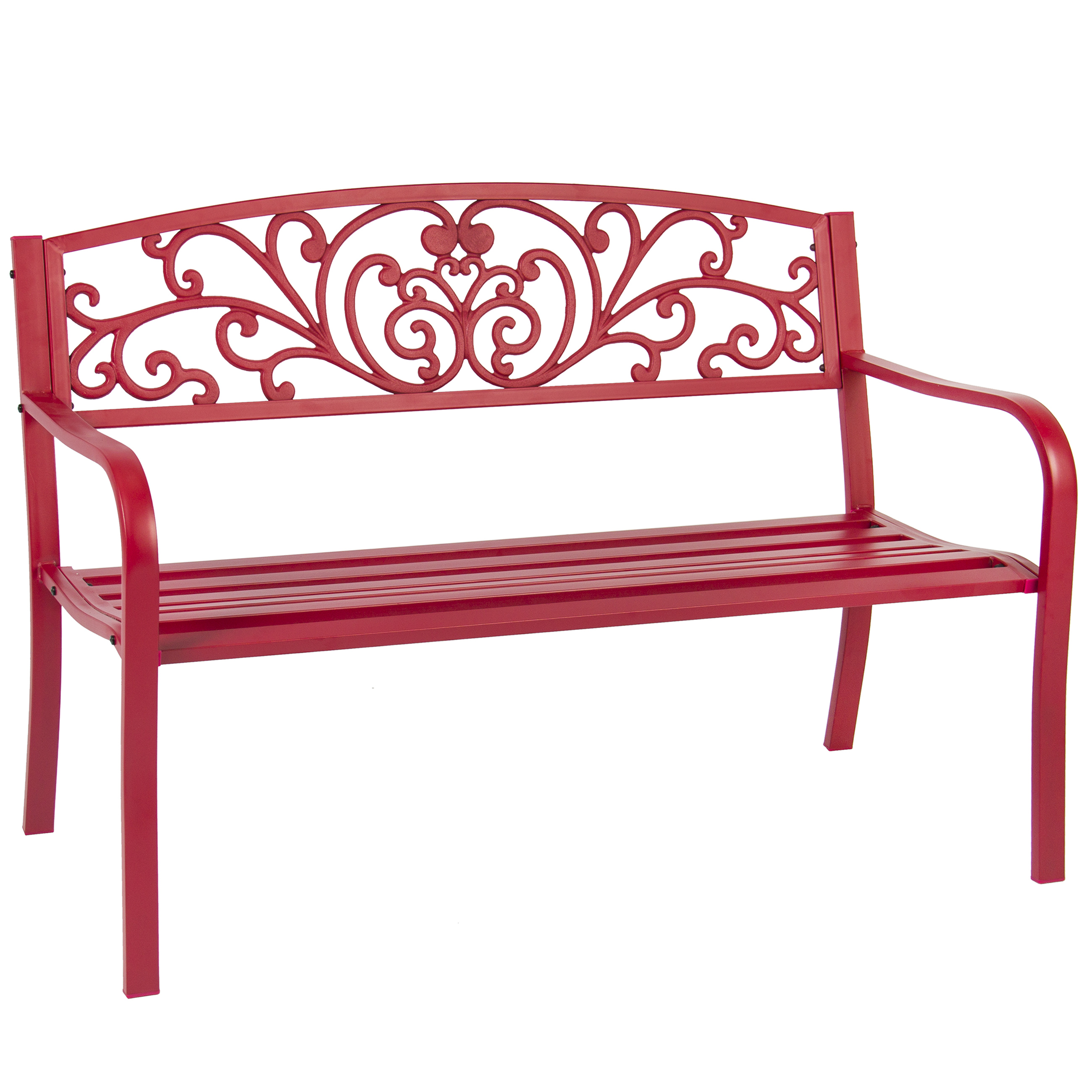 "Best Choice Products BCP 50"" Patio Garden Bench Park Yard Outdoor Furniture Steel... by Best Choice Products"
