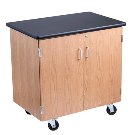 24 x 36 in. Science Lab Storage Cabinet with Black Top & Light Oak Frame](Science Supply Store)