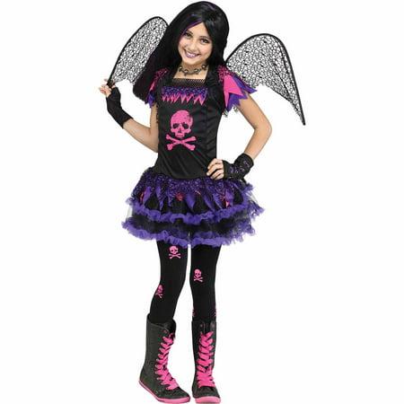 Pink Skull Fairy Child Halloween Costume - Giant Skull Halloween