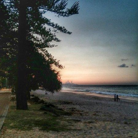 Canvas Print Sea Gold Coast Australia Sunset Burleigh Heads Stretched  Canvas 10 x 14