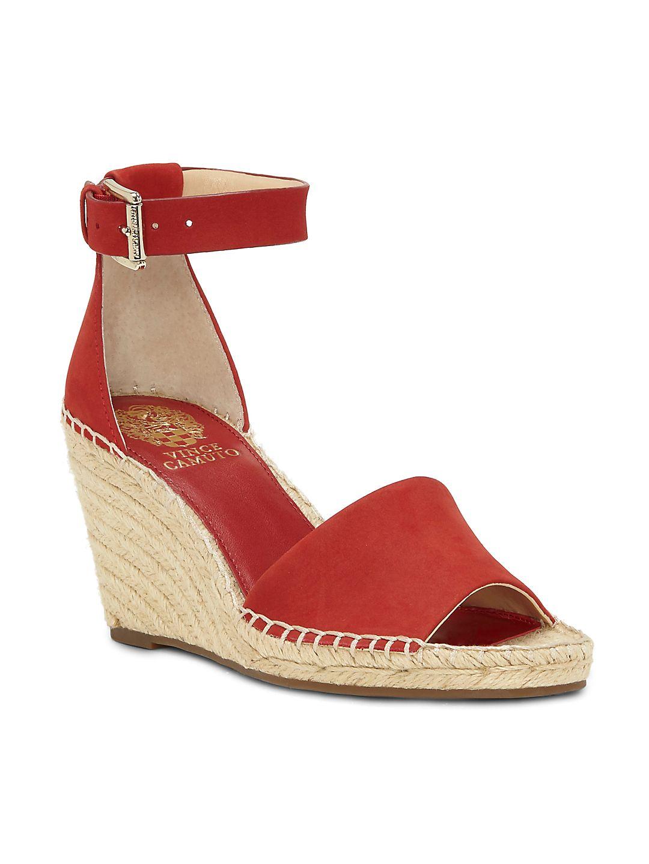 Leera Ankle-Strap Wedge Espadrilles