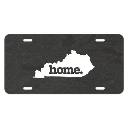 Kentucky KY Home State Novelty Metal Vanity License Tag Plate - Textured Dark Grey Gray - Car Mart Lexington Ky