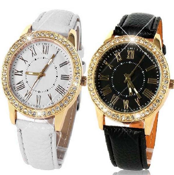 Casual Elegance Yellow Gold Geneva Watch With Matching Face ~ Two Classic Colors Black