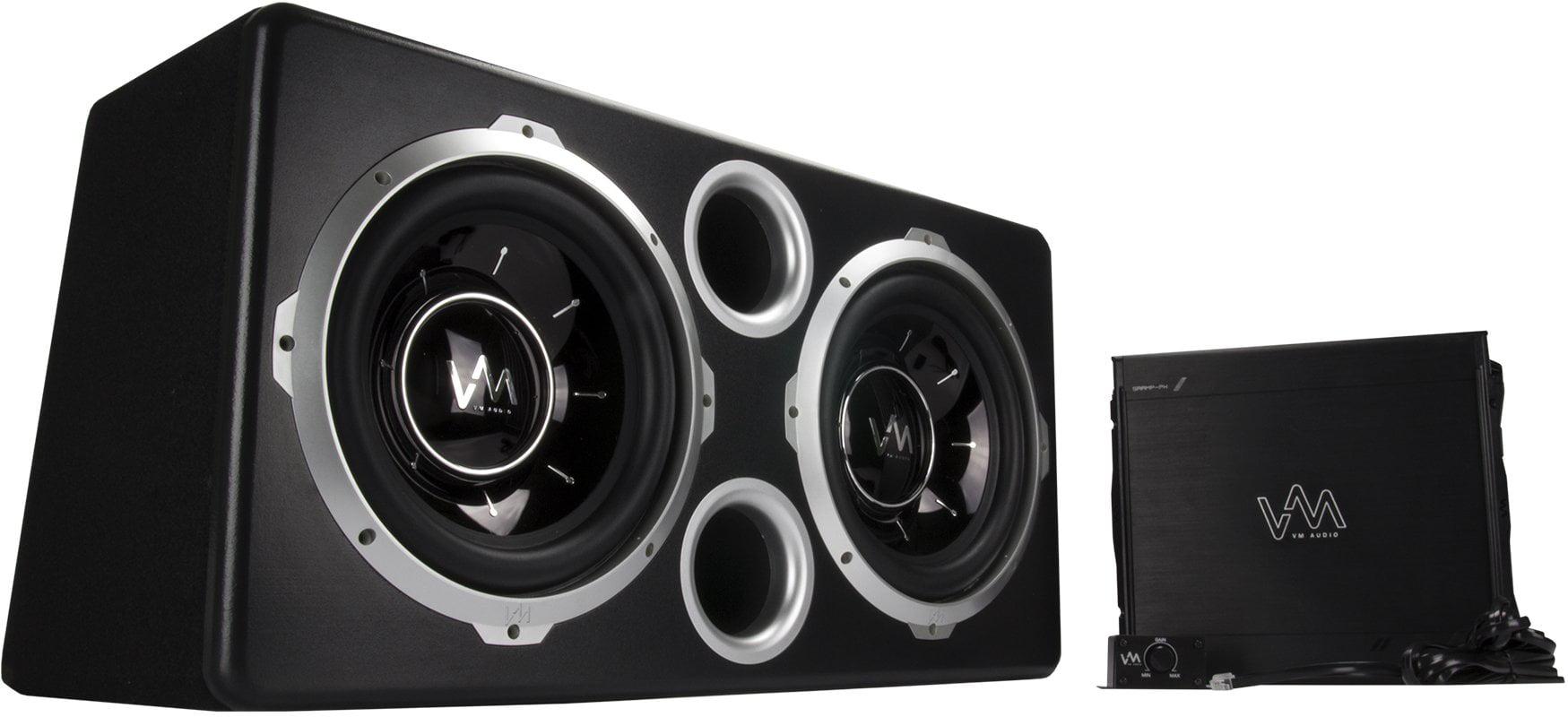 Vm Audio Dual 12 Vented Port 2000 Watt Sub Car Box Bass Package W Wiring Subwoofer Speakers Amp