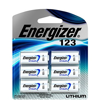 5 PACK - NEW ENERGIZER PHOTO BATTERY 123 LITHIUM 6 COUNT -