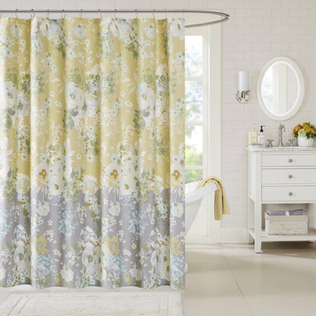 Madison Park Addison Yellow Shower Curtain