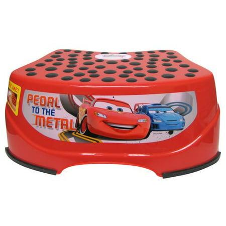 Disney Car Step and Glow Step Stool  Red. Disney Car Step and Glow Step Stool  Red   Walmart com
